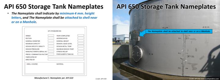 API 650 nameplate