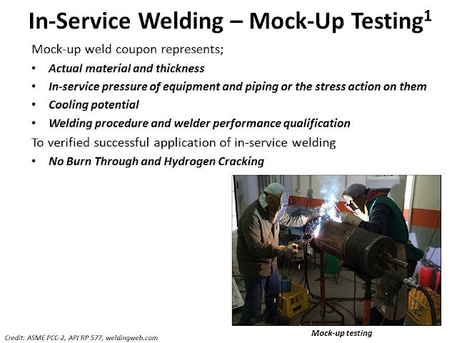 Mock up test weld