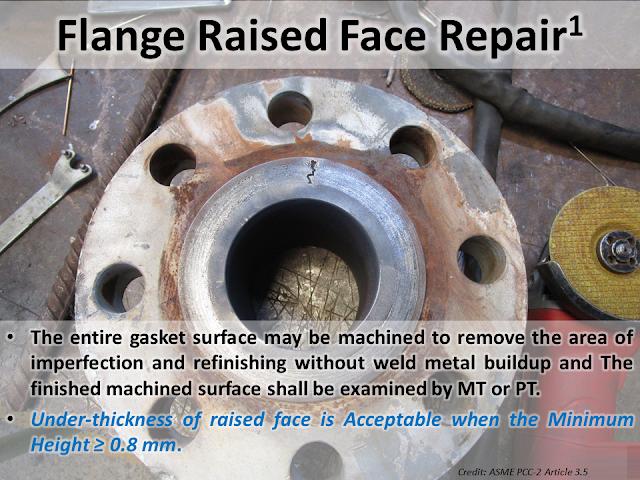 Flange Raised Face Repair